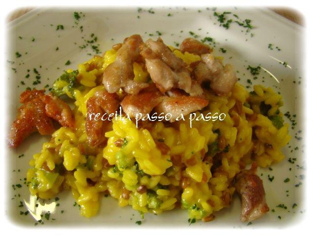 Receita passo a passo: Risoto Rústico de Brócolis com Açafrão / Rustic Risotto with Broccoli and Saffron