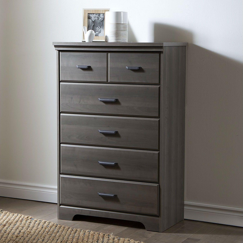 Gray Maple Dresser Drawers Bedroom Adult or Children's