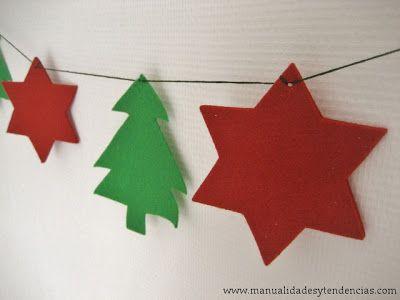 Diy guirnalda navide a christmas garland guirlande no l - Guirnaldas navidad manualidades ...