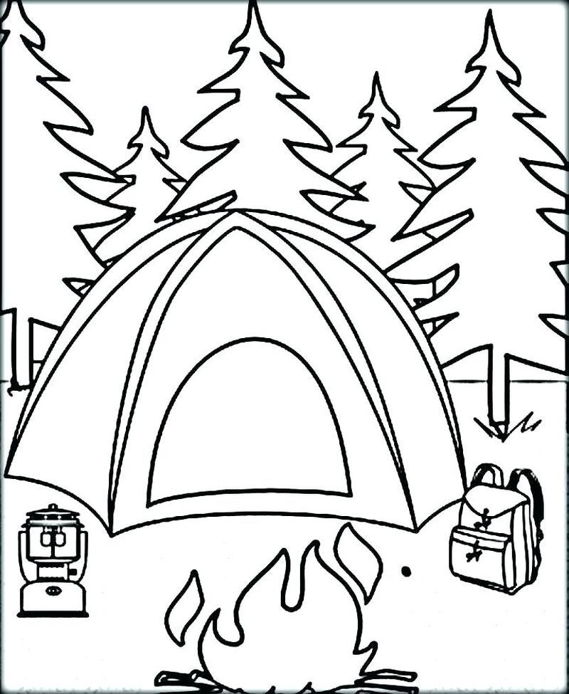 Camping Cartoon Coloring Pages Camping Coloring Pages Cool Coloring Pages Summer Coloring Sheets