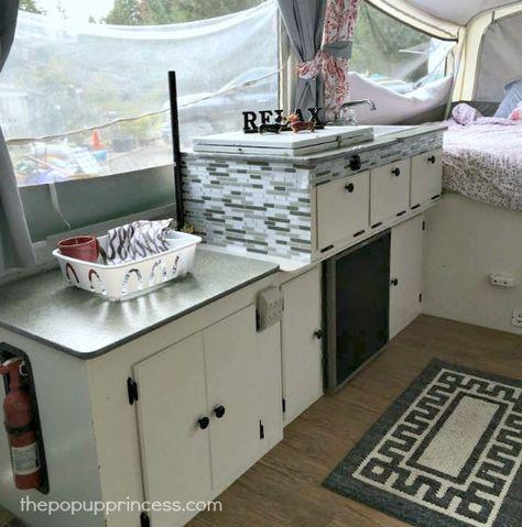 Teresa S Pop Up Camper Remodel Remodeled Campers Pop Up Tent