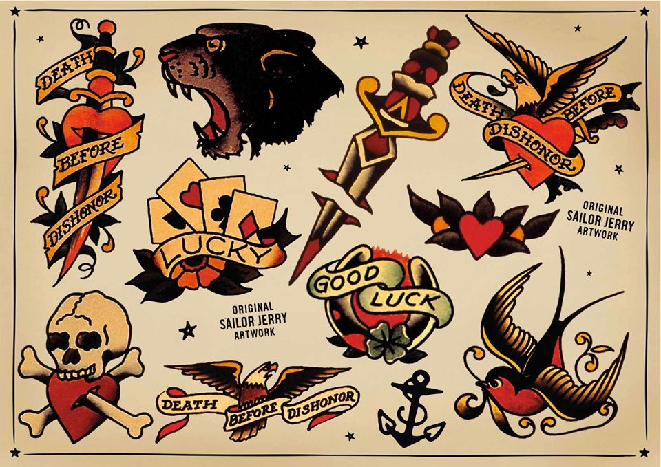 c1a4851062392 Sailor jerry flash | Tattoos | Traditional tattoo, American tattoos ...