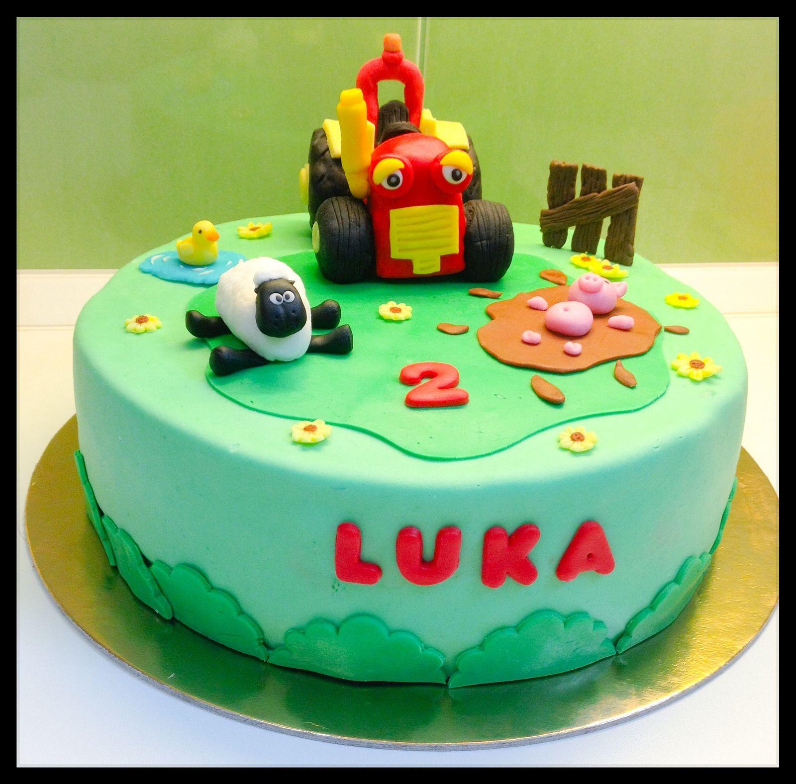 Tractor Tom Fondant Cake Mit Bildern Traktor Torte Geburtstagstorte Kuchen