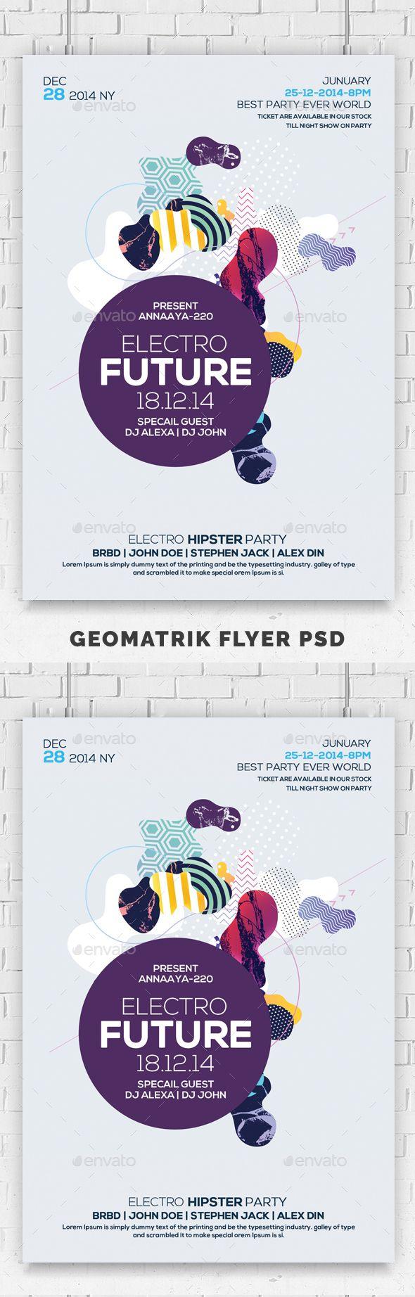 Electro Future Flyer Psd — Photoshop PSD electro future modern ...