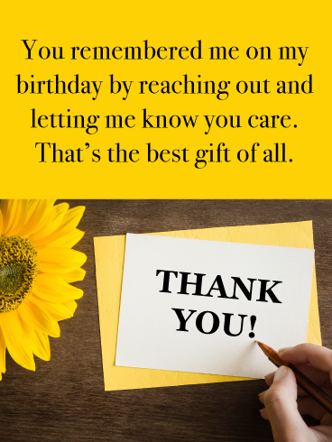 The Best Gift Of All Thank You Card For Birthday Wishes Birthday Greeting Cards By Davia Thank You Messages For Birthday Thanks For Birthday Wishes Birthday Wishes For Myself