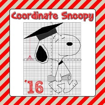 Snoopy Coordinate Grid Picture - Unlike many other coordinate
