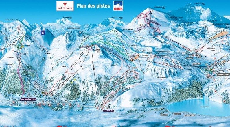 Download the Val DIsere Piste Map in high resolution today Ski