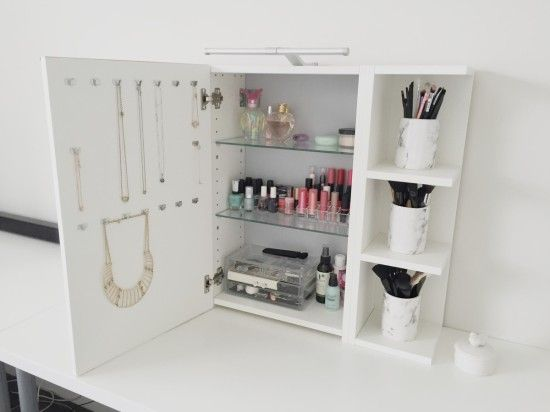 Use IKEA LILLNGEN Mirror Cabinet As A Vanity Mirror With