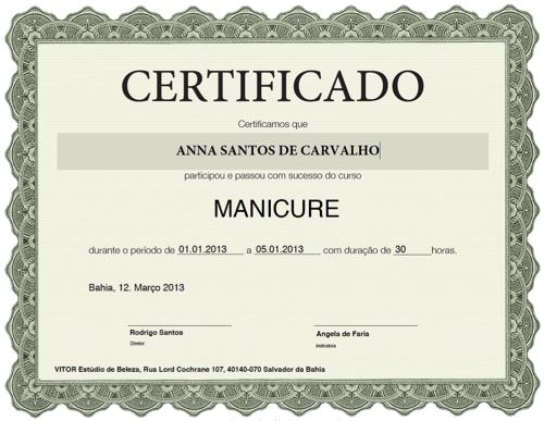 modelo-de-certificado | template | Pinterest