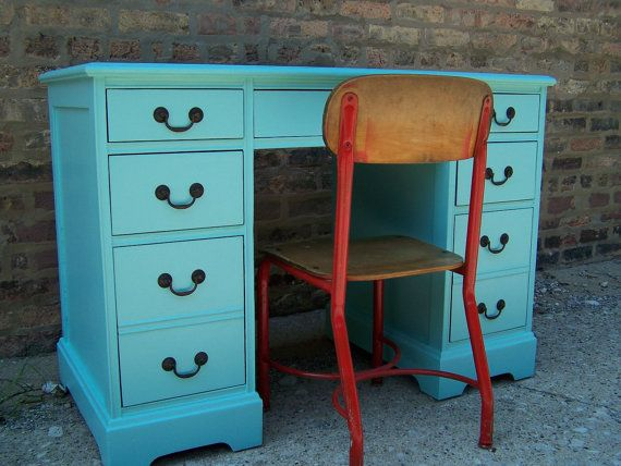 Jamaica Blue Desk From 1954 Cute Paint Color Blue Desk