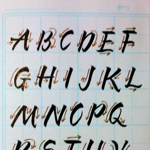 筆ペンでアルファベットを書いてみる 手書き文字の書き方 レタリングアルファベット 筆ペン