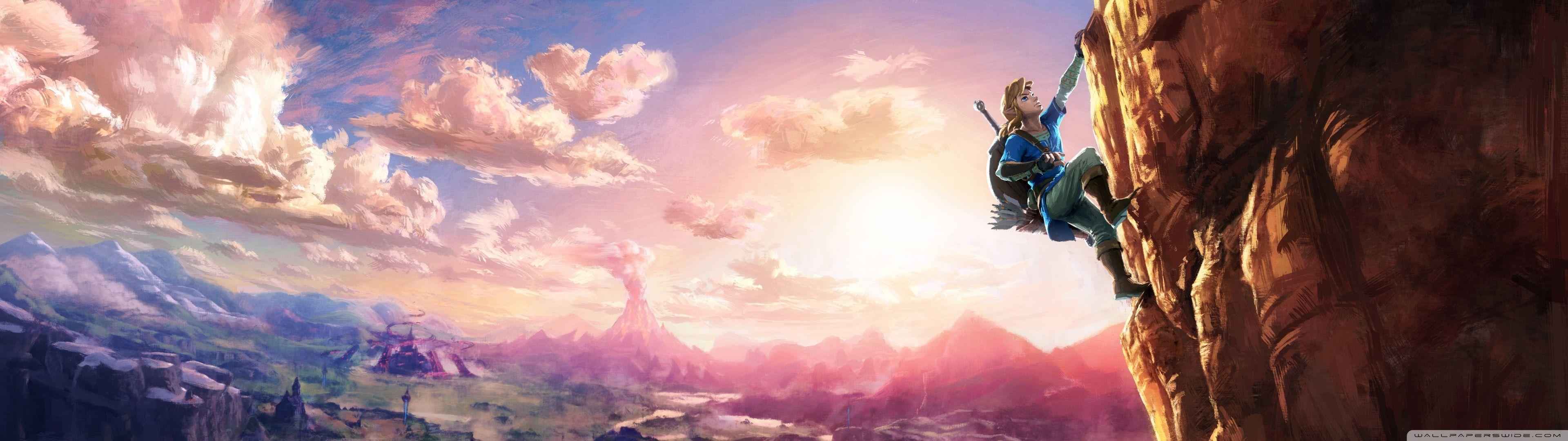Link Climbing 3840x1080 Zelda wii, Legend of zelda