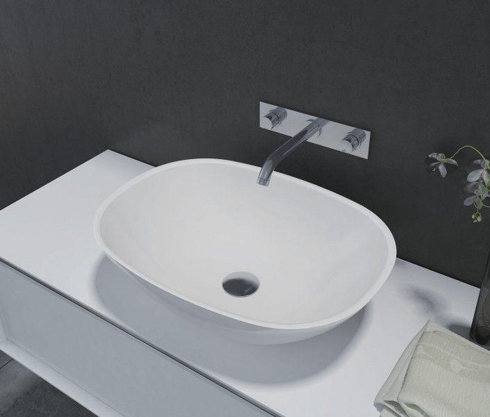 Doppelwaschbecken oval  Aufsatzbecken Aufsatz Waschbecken Oval PB2202 - 55x40x15cm ...