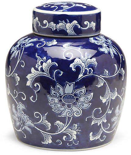 One Kings Lane 10 Lisse Round Ginger Jar Blue White Blue And White Vase Ginger Jars Ceramic Jars