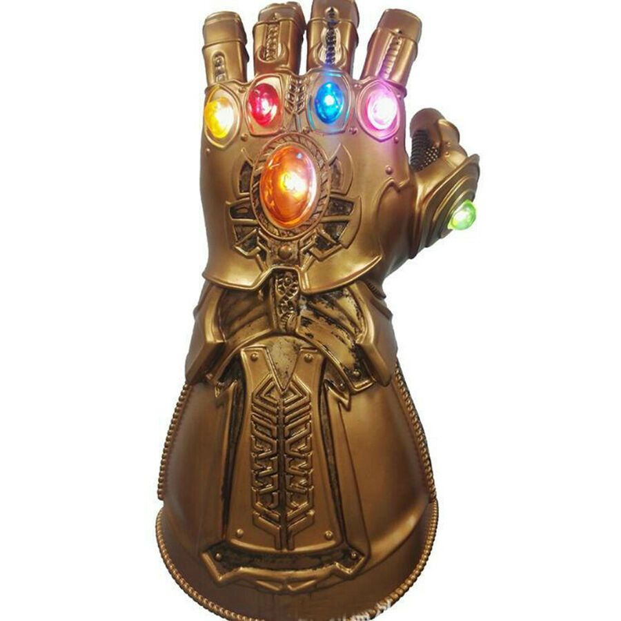 Avengers Infinity War Thanos LED Light Gauntlet Gloves Cosplay Costume Hot