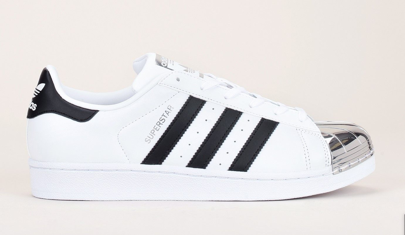 Toe Bout Adidas Sneakers Cuir Originals Blanc Superstar tshQCrd