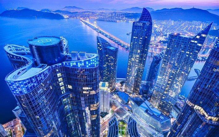 busan, metropolis, skyscrapers, south korea