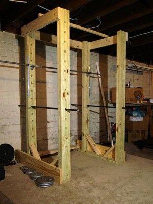 comment fabriquer sa cage squat en bois home gym pinterest en bois. Black Bedroom Furniture Sets. Home Design Ideas