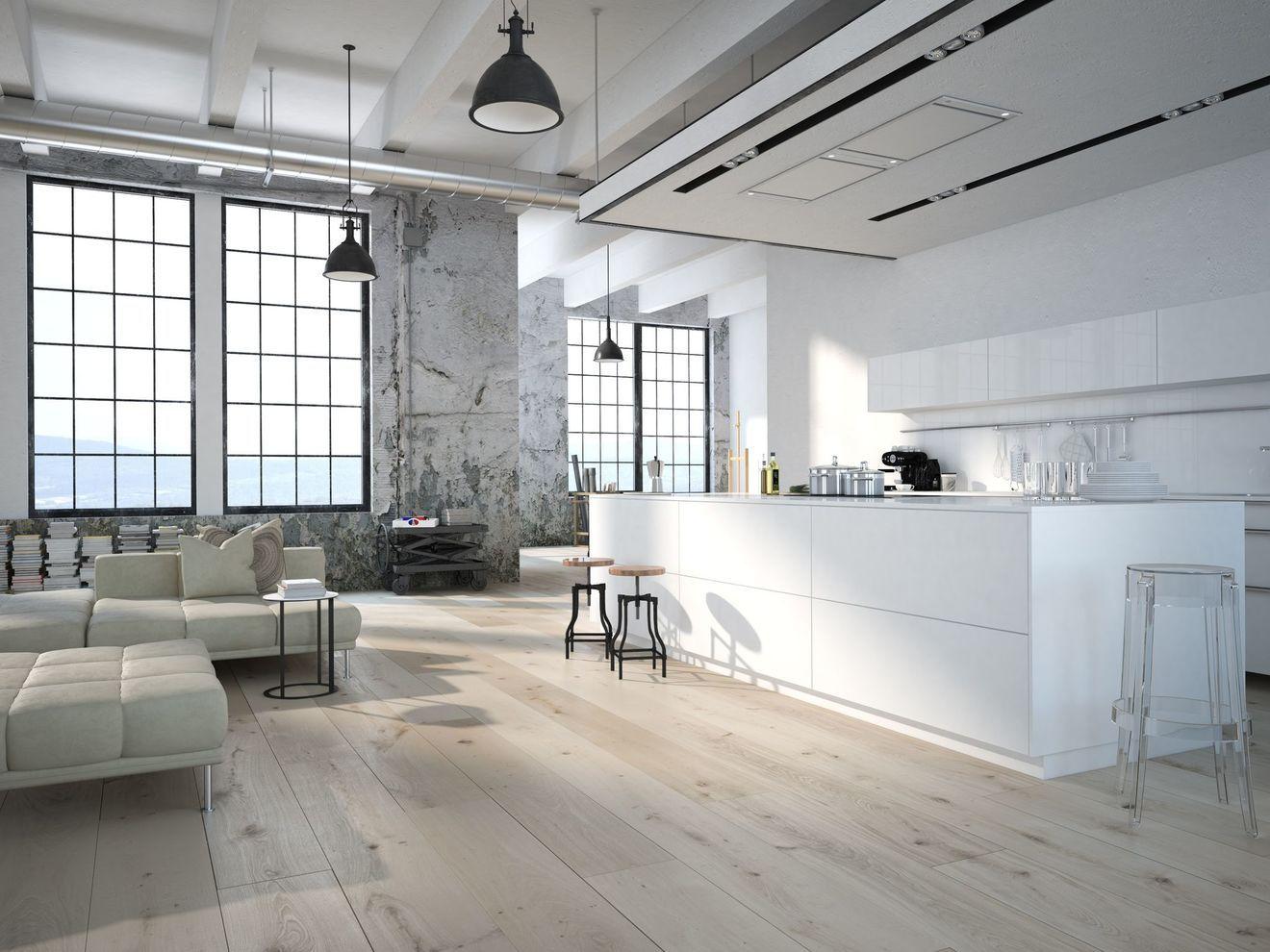 Revetement Sol Cuisine 19 Modeles De Sol Pour Une Cuisine Au Top Revetement Sol Loft Moderne Et Decoration Maison