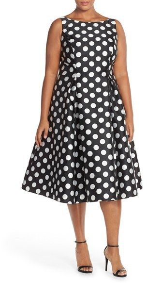 Nordstrom - Adrianna Papell Sleeveless Mikado Fit & Flare ...