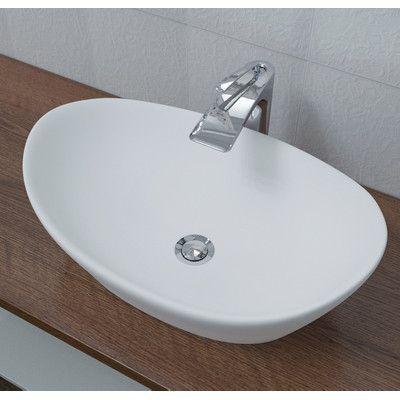 Aquatica Luna Vessel Bathroom Sink Sink Finish White Matte