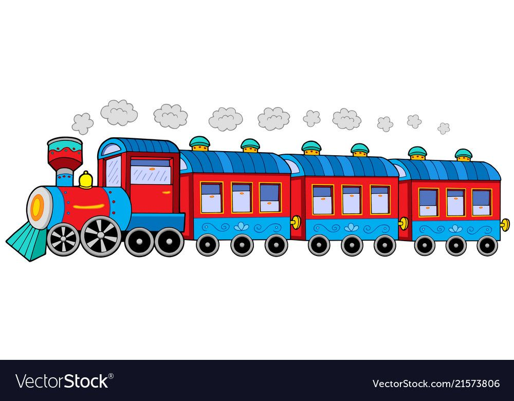 Steam Locomotive With Wagons Vector Illustration Download A Free Preview Or High Quality Adobe Illustrato Transportation Activities Train Drawing Locomotive