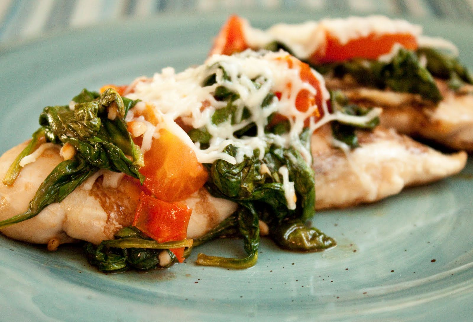 Get out of the Chicken Rut: Balsamic Chicken with Roasted Spinach & Tomatoes - boys ahoy