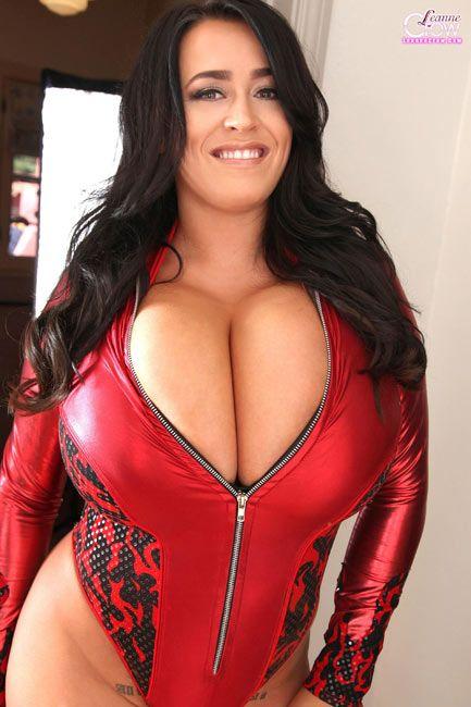 Uk Glamour Model Leanne Crow In Red Devil
