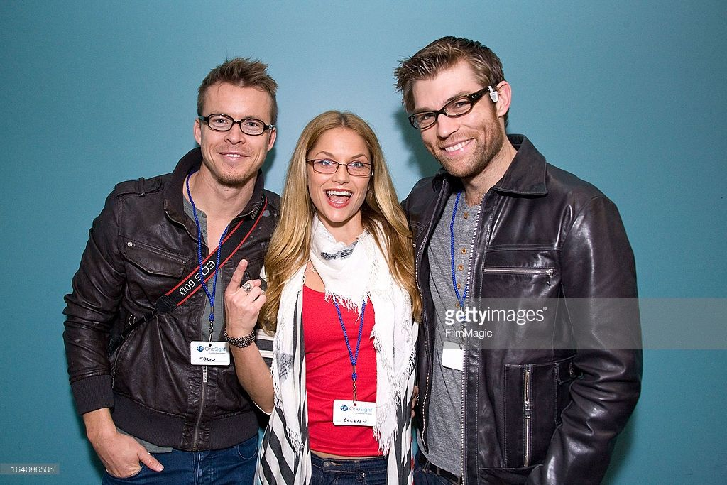 Actors Todd Lasance, Ellen Hollman and Liam McIntyre attend the Visual Impact Now with Starz 'Spartacus: War of the Damned' cast volunteer event at Visual Impact Now Eye Clinic on March 19, 2013 in Los Angeles, California.