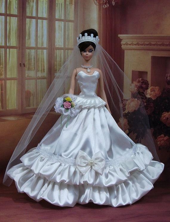 Robe barbie mari e n 20 v tement pour poup e f3788 - Barbie mariee ...