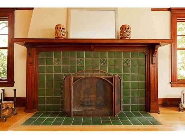 1915 Craftsman Portland Or 2 025 000 Craftsman Fireplace Fireplace Tile Fireplace Surrounds