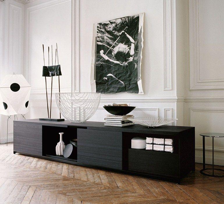 Wooden sideboard with doors mida sideboard maxalto a for B b italia spa