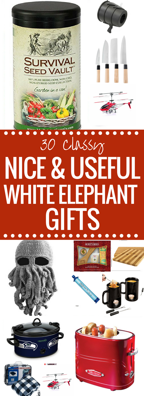 30 Classy Nice Useful White Elephant Gifts They Ll Fight For White Elephant Gifts Elephant Gifts Best White Elephant Gifts