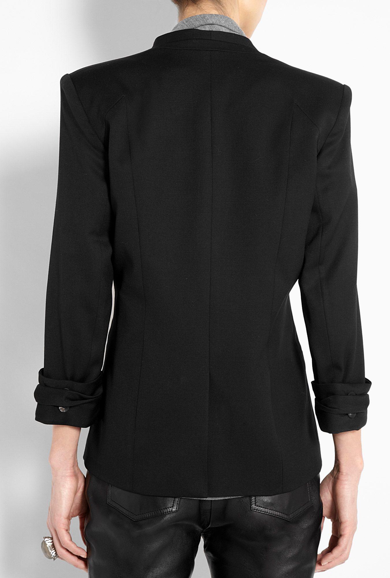 Helmut Lang  Black Double Breasted Smoking Jacket back