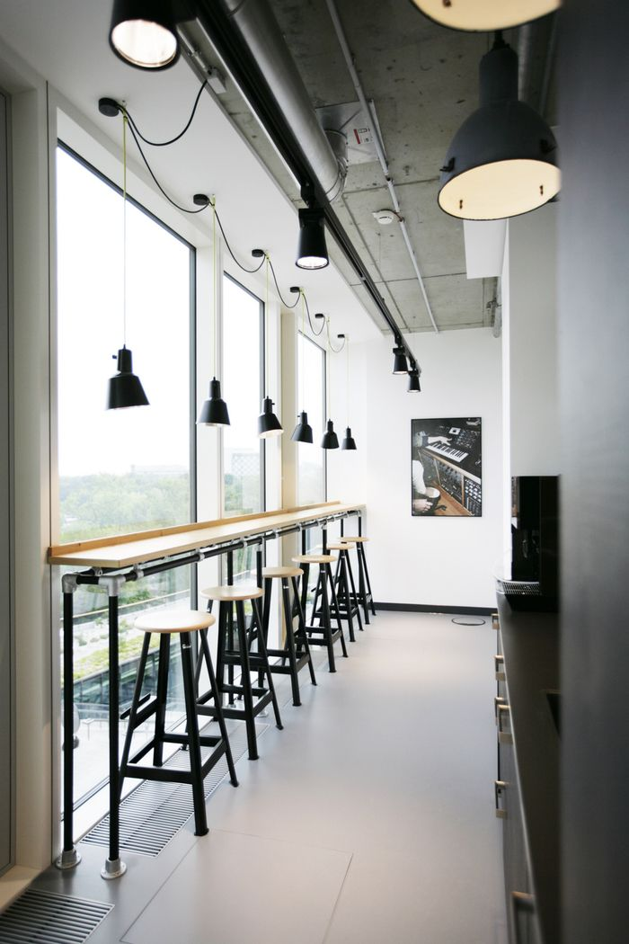 Exceptionnel Bar Stool Work Area (add Backs To Stools And Deepen The Workspace A Bit)  For The Silent Room To Increase # Of Seats?