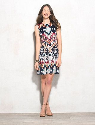 Geometric Scuba Dress | dressbarn | Things I Gotta Have | Pinterest