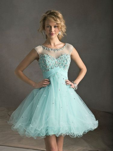A Line 2013 New Homecoming Dresses Beaded Short Cocktail Party Prom Light Blue   eBay