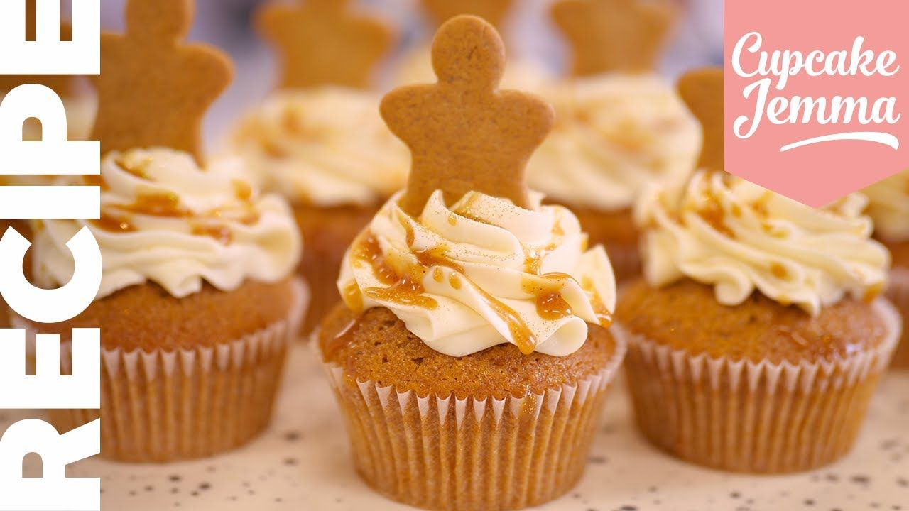 Caramel Gingerbread Christmas Cupcake Recipe! | Cupcake ...