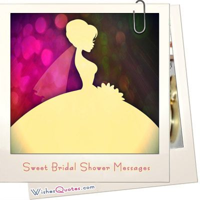 sweet bridal shower messages what to write in a bridal shower card