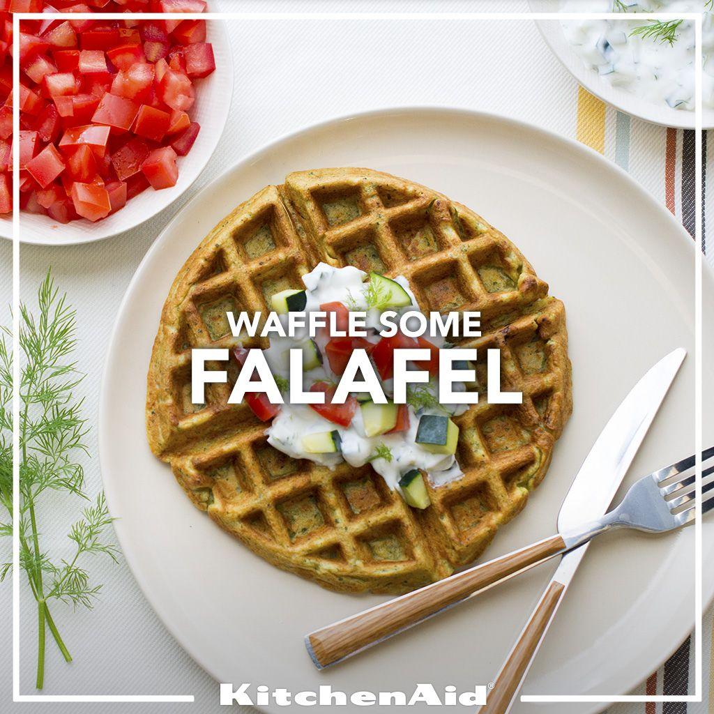 Falafel waffles with tzatziki sauce recipe waffle