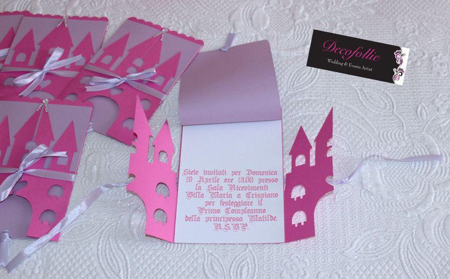 Inviti Primo Compleanno Principessa A Forma Di Castello