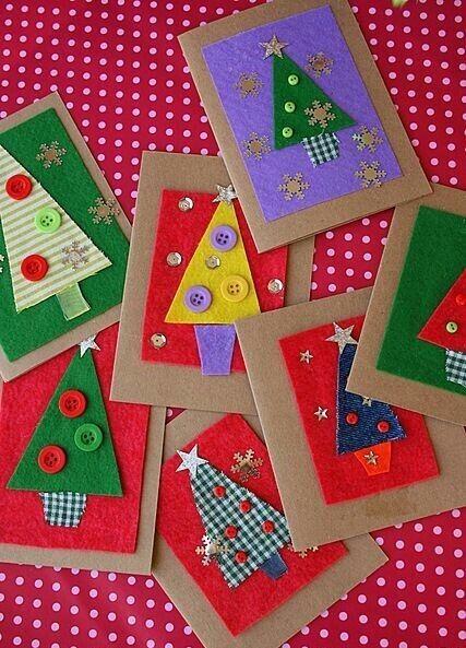 Christmas Cards Crafts For Kids #holidaycraftsforkidstomake