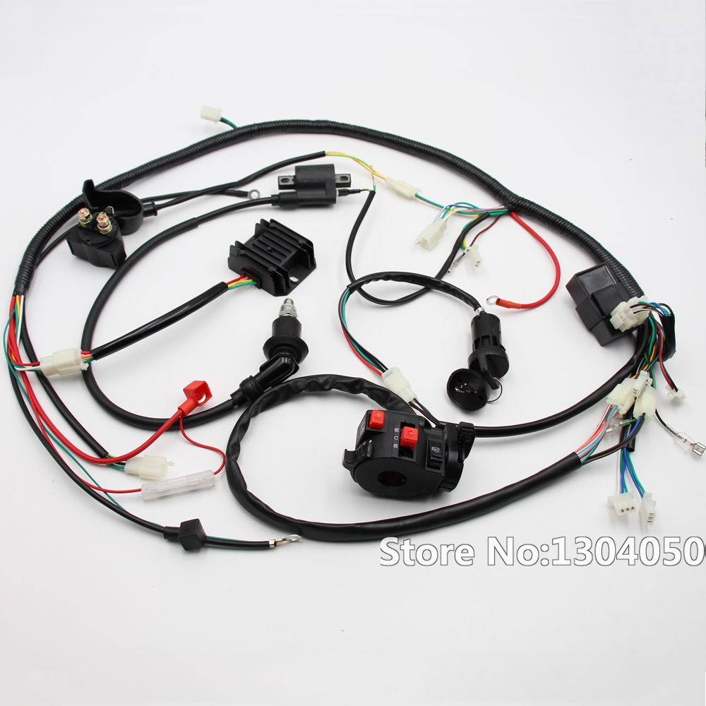Full Electric Start Engine Wiring Harness Loom Gy6 125 150cc Quad Bicycle Bike Kandi Atv Go Kart