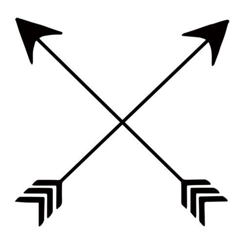 crossed arrows symbol tattoos