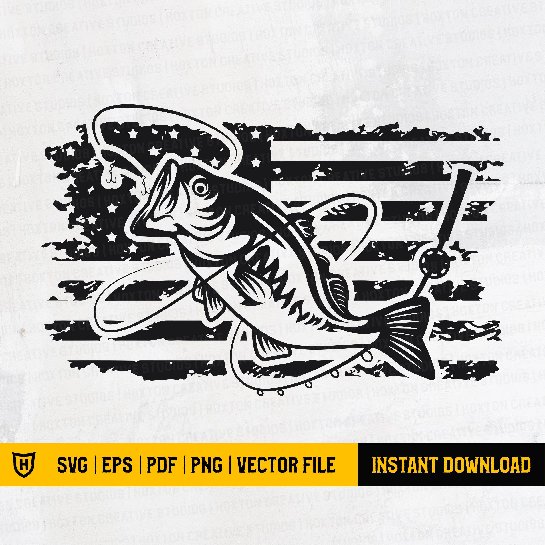 Download Us Flag Bass Fish Usa Bass Fish Us Bass Angling Svg Us Etsy In 2021 Fishing Svg Svg Fish Clipart
