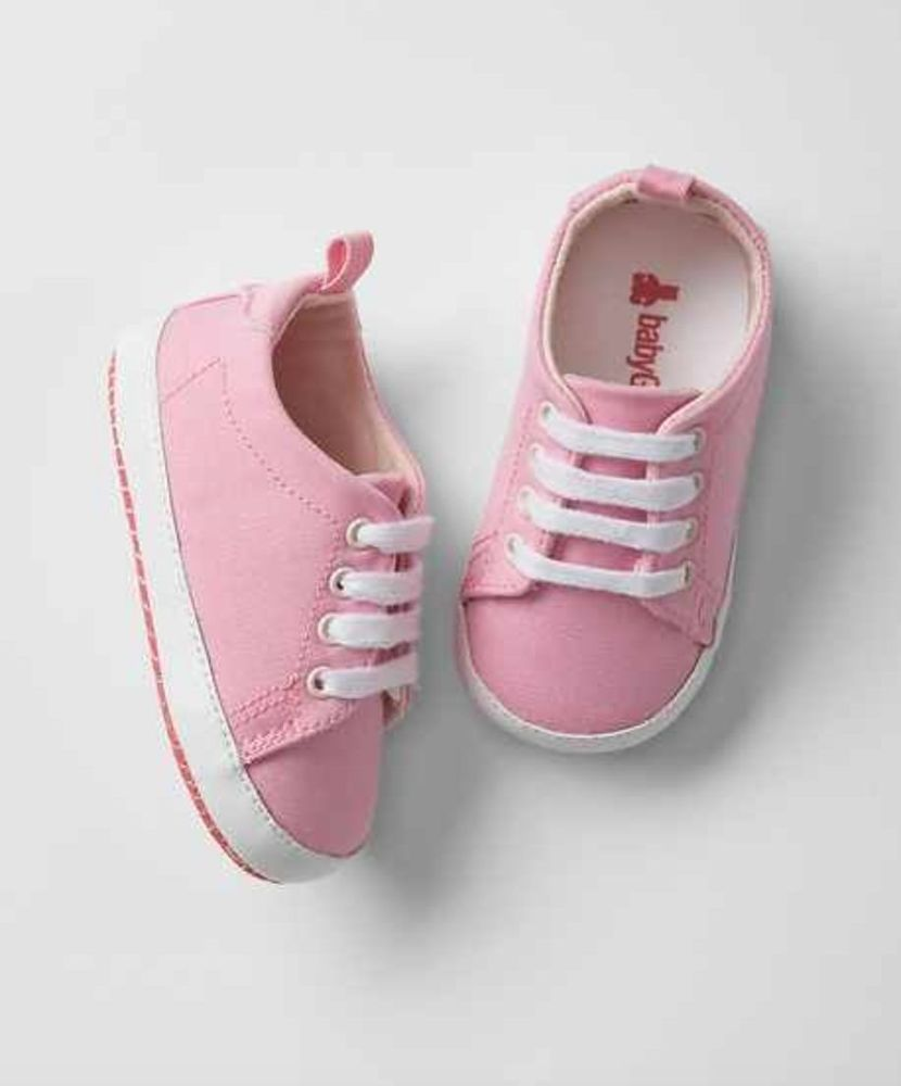 373107348e743 Details about GAP Baby Girls Size 0-3 Months Pink / White Lace-Up ...