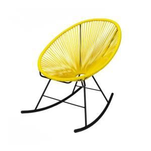 CHAISE - FAUTEUIL JARDIN Fauteuil Acapulco rocking chair jaune ...