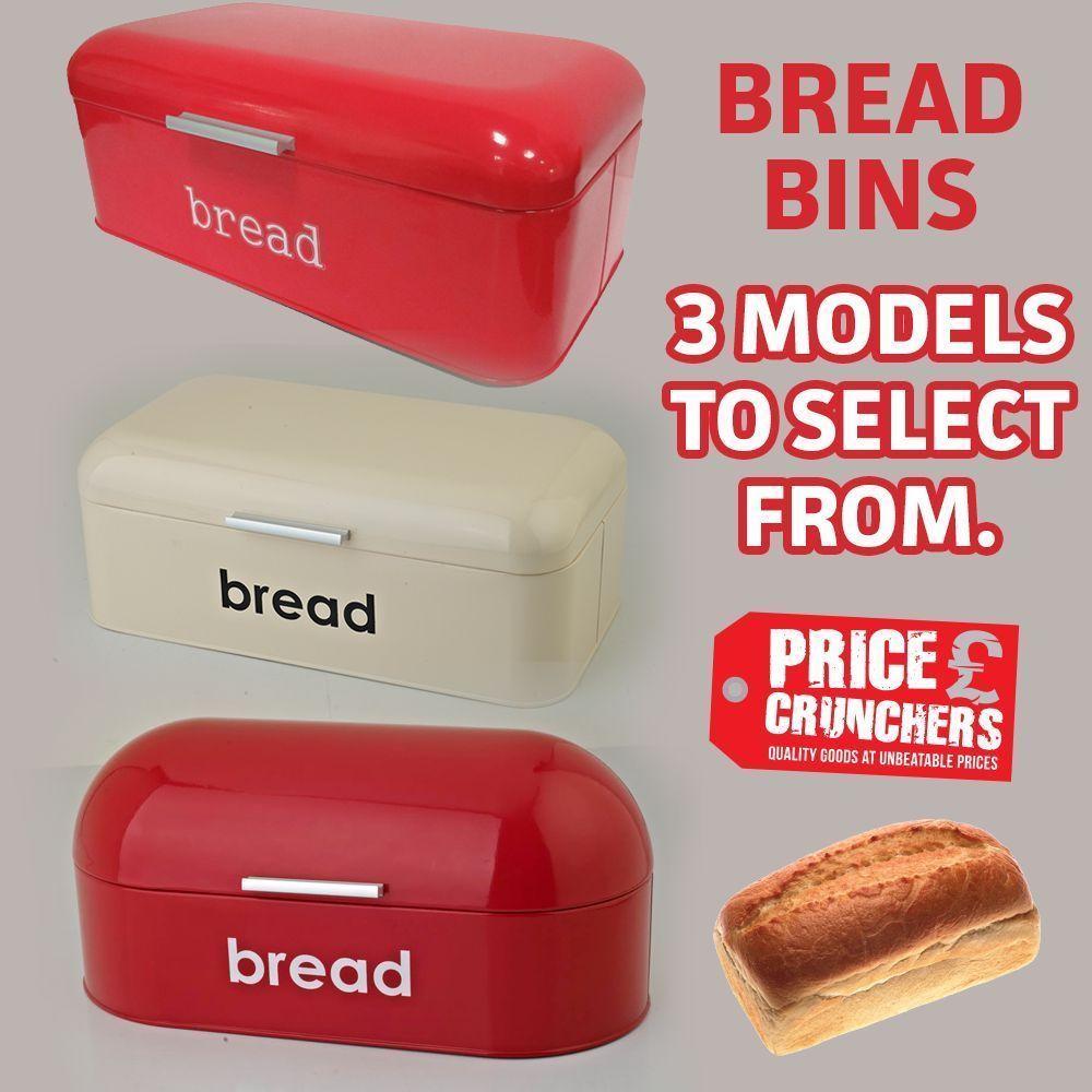 Details about Red Bread Bin Retro Kitchen Food Container Storage Box