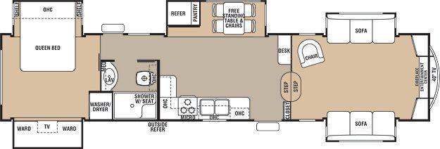 Floorplan Of The 38fl Cedar Creek My Favorite Thus Far Rv Floor