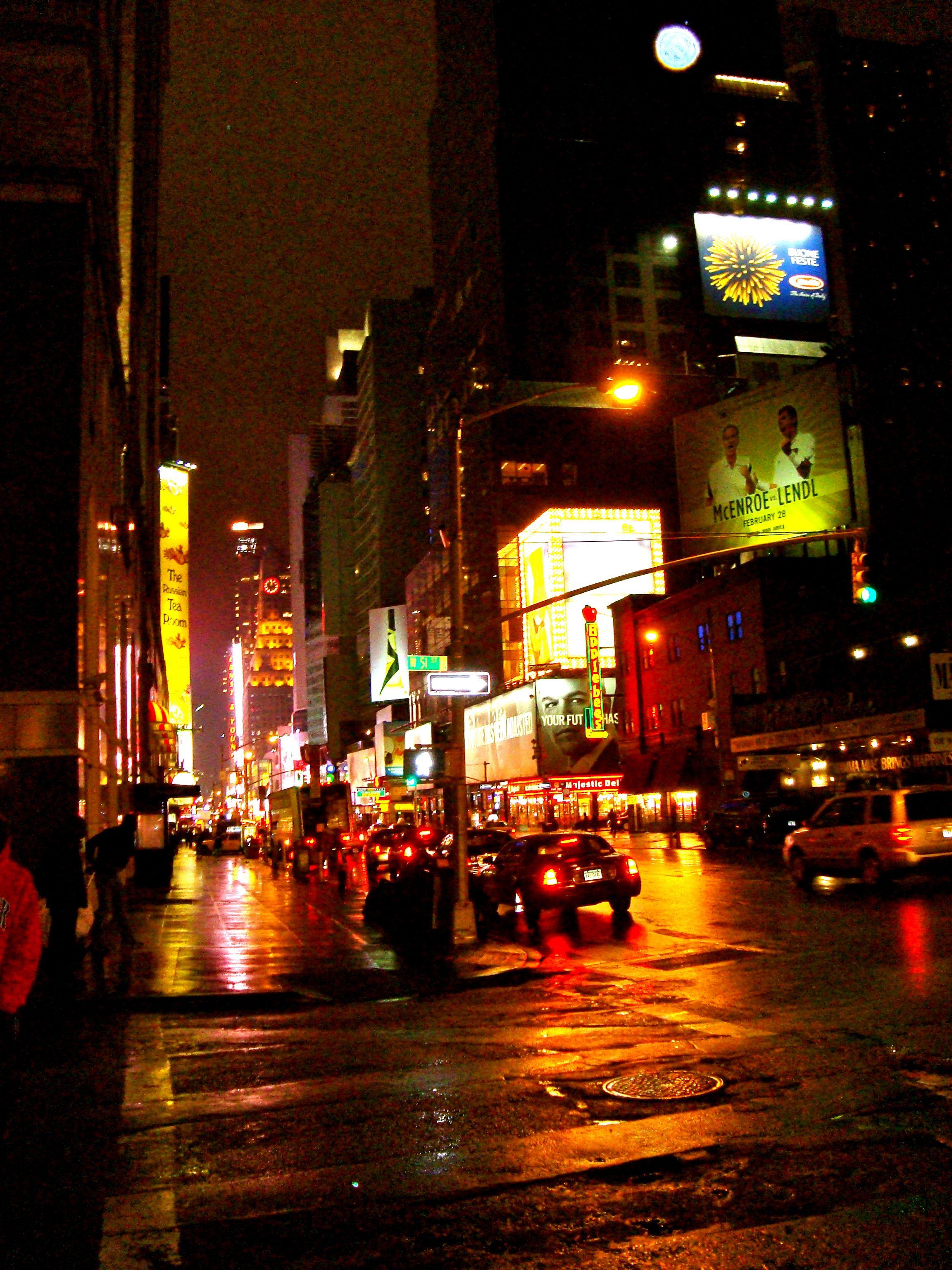 Lights and Slick Streets (New York City)